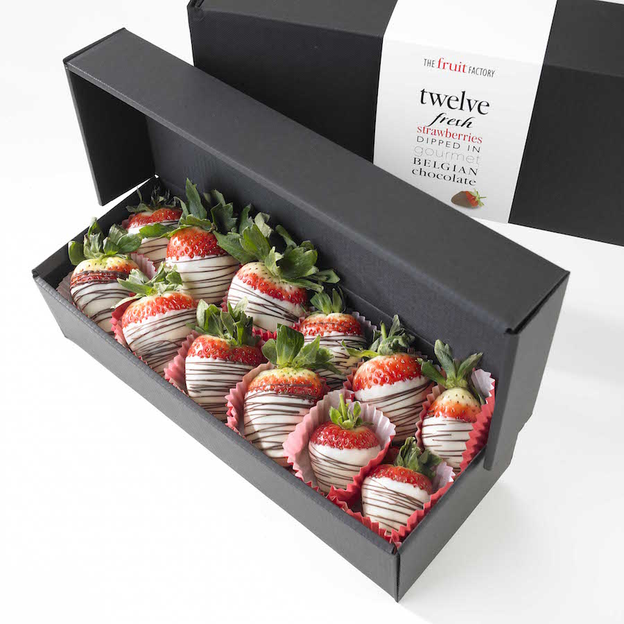 Fruit And Chocolate Gift Boxes : New white chocolate delight fruit factory