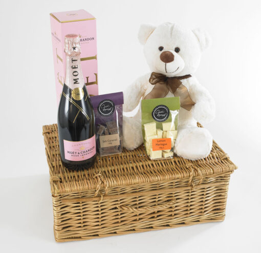 teddy bear champagne hamper
